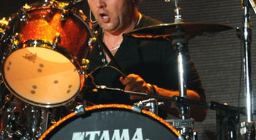 Lars Ulrich, baterista do Metallica, em show do disco Death Magnetic (2008) - AP