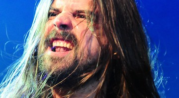 Andreas Kisser, guitarrista do Sepultura, durante show da banda no Rock in Rio - Carolina Vianna