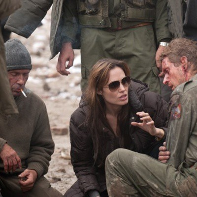 Angelina Jolie, durante as filmagens de In the Land of Blood and Honey