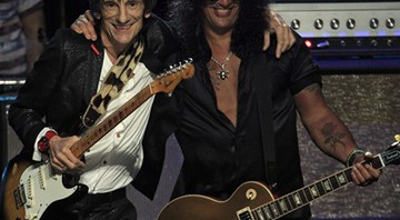 Hall da Fama - Slash e Ron Wood - AP