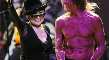 Yoko Ono e Iggy Pop - Chris Pizzello / AP
