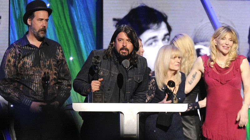 Nirvana, Dave Grohl,  Krist Novoselic, Courtney Love - Hall of Fame do Rock