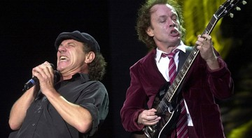 Brian Johnson e Angus Young, do AC/DC - Markus Stuecklin/AP