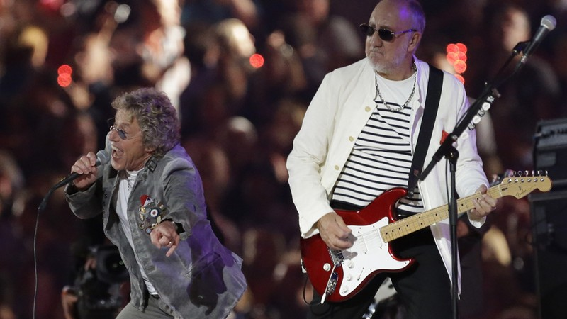 Roger Daltrey e Pete Townshend, integrantes remanescentes do The Who