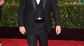 Bill Murray no tapete vermelho do Golden Globe. - John Shearer/AP