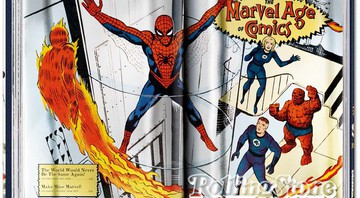O livro 75 Years of Marvel Comics: From the Golden Age to the Silver Screen - Divulgação