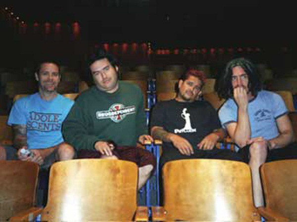 Erik Sandin, Eric Melvin, Fat Mike e El Hefe, integrantes do NOFX