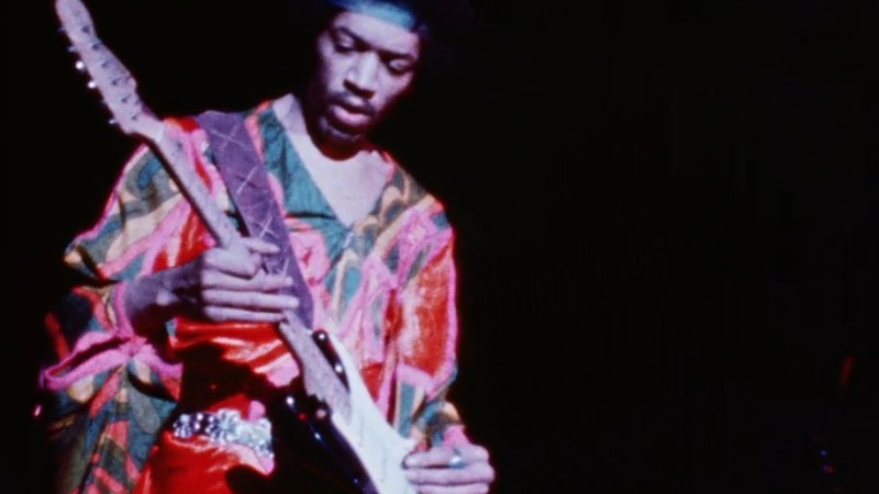 Jimi Hendrix em ação no Atlanta International Pop Festival