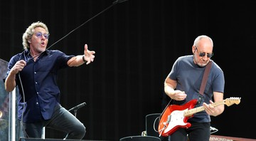 Roger Daltrey e Pete Townshend em show do The Who no Hyde Park, em Londres - AP