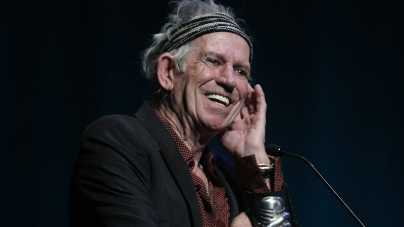 O guitarrista dos Rolling Stones Keith Richards