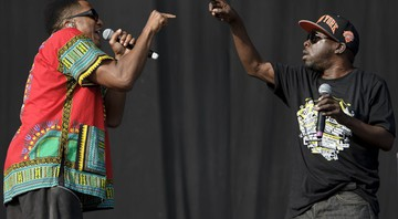 Q-Tip e Phife Dawg (da esquerda para a direita) do A Tribe Called Quest  - Jonathan Short/AP