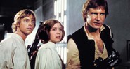 Hamill, Carrie e Ford no filme original,em 1977 - LUCASFILM LTD.