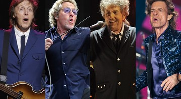 Paul McCartney, Bob Dylan, The Who e Rolling Stones - AP