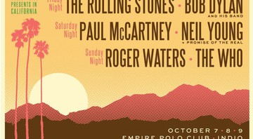 Cartaz do Desert Trip, festival que reúne Rolling Stones, Paul McCartney, Neil Young, Roger Waters, Bob Dylan e The Who - Reprodução