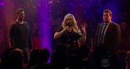 Drop the Mic, quadro do <i>Late Late Show</i>, com James Corden, Rebel Wilson e David Schwimmer - Reprodução/Vídeo
