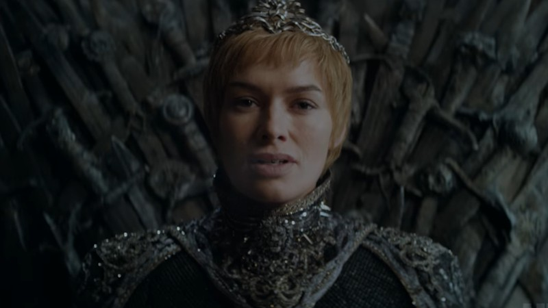 Cersei Lannister em cena do teaser da sétima temporada de Game of Thrones