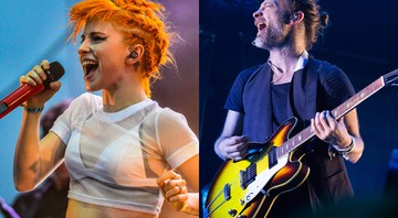 Hayley Williams, do Paramore, e Thom Yorke, do Radiohead - AP/Charles Sykes