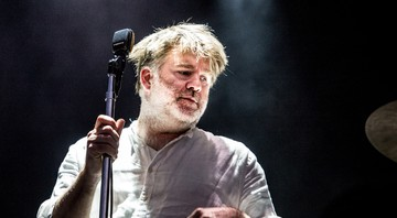 James Murphy durante show do LCD Soundsystem no Lollapalooza Chicago de 2016 - Amy Harris/Invision/AP