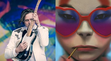 Win Butler, vocalista do Arcade Fire e Noodle, integrante virtual do Gorillaz - Reprodução