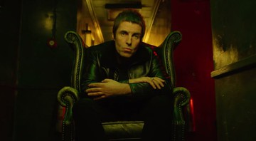 "Liam Gallagher em cena do clipe do single ""Wall Of Glass"" - Reprodução/Vídeo"
