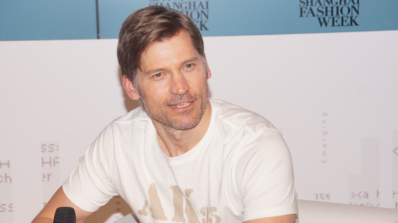 O ator Nikolaj Coster-Waldau na Xangai Fashion Week 2017