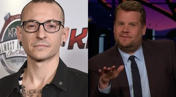 Chester Bennington e James Corden - AP