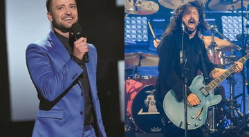 Justin Timberlake e Dave Grohl - Associated Press