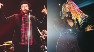 Alicia Keys e Justin Timberlake no Rock in Rio 2017 - Fernando Schlaepfer/Willmore Oliveira/I Hate Flash/Divulgação