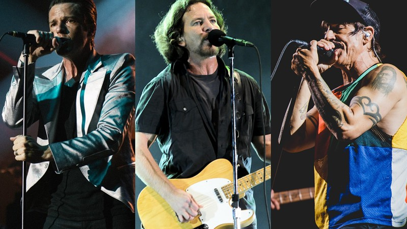 The Killers, Pearl Jam e Red Hot Chili Peppers, os três headliners do Lollapalooza 2018