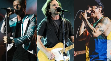The Killers, Pearl Jam e Red Hot Chili Peppers, os três headliners do Lollapalooza 2018 - Reprodução/Carolina Vianna/Wesley Allen/I Hate Flash/Divulgação