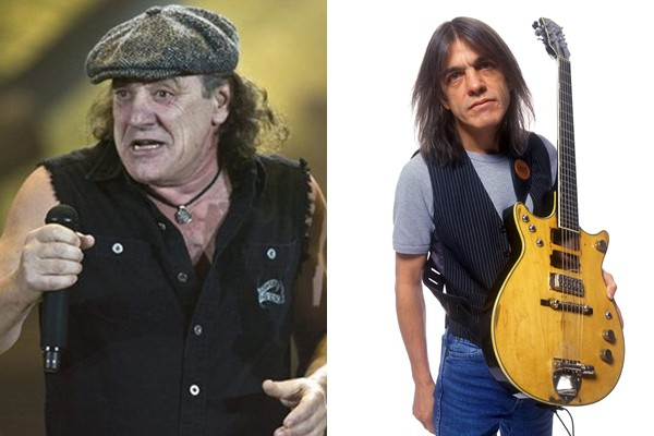 Brian Johnson e Malcolm Young