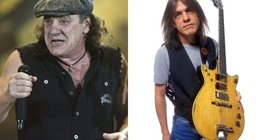 Brian Johnson e Malcolm Young - AP