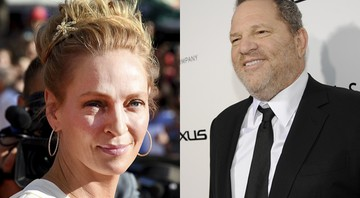 Uma Thurman e Harvey Weinstein - AP