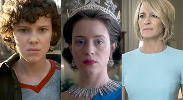 Cenas de Stranger Things, The Crown e House of Cards, séries da Netflix - Reprodução