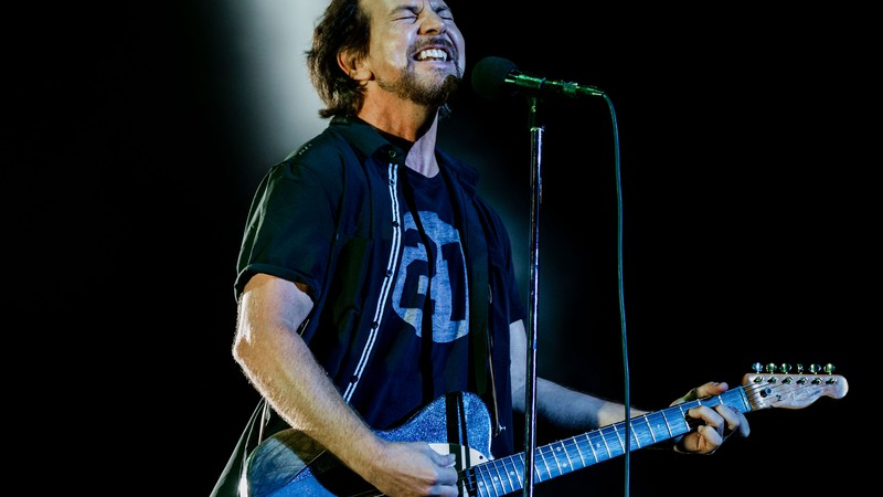 Eddie Vedder, do Pearl Jam, no Lollapalooza 2018