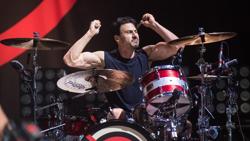 O baterista Brad Wilk (ex-Rage Against Machine e Audioslave) durante show do supergrupo Prophets of Rage