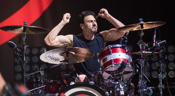 O baterista Brad Wilk (ex-Rage Against Machine e Audioslave) durante show do supergrupo Prophets of Rage - Chris Tuite/ImageSPACE/AP