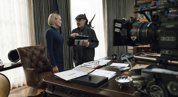Robin Wright no set de House of Cards - Divulgação/Netflix