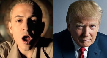 "None - Clipe de ""In The End"", do Linkin Park (Foto: YouTube / Reprodução) e Donald Trump (Foto: Mark Seliger)"