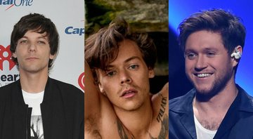 None - Louis Tomlinson, Harry Styles e Niall Horan (Foto 1: Richard Shotwell/Invision/AP | Foto 2: Reprodução / Ryan McGinley para Rolling Stone EUA | Foto 3: mpi04/MediaPunch/ipx)