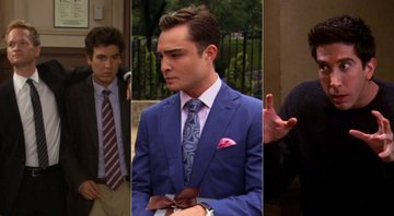 None - Barney e Ted de How I Met Your Mother; Chuck de Gossip Girl; Ross de Friends (Fotos: Reprodução)