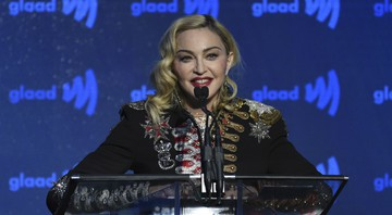None - Madonna no GLAAD Media Awards (Foto:Evan Agostini/Invision/AP)