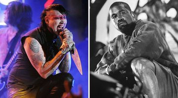 None - Marilyn Manson e Kanye West (Foto 1: Chris Pizzello/AP e Foto 2: Amy Harris/Invision/AP)