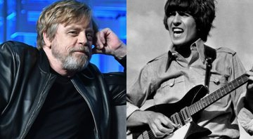 None - Montagem de Mark Hamill (Gustavo Caballero/Getty Images) e Geoge Harrison (AP Images)