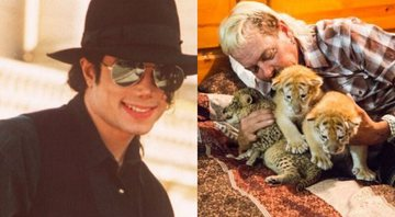 "None - Michael Jackson e Joe ""Exotic"" (Foto 1: AP Photo / Laurent Rebours/ Foto 2: Reprodução)"