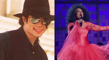 None - Michael Jackson e Diana Ross (Foto 1: AP Photo / Laurent Rebours/ Foto 2: Matt Sayles/Invision/AP)