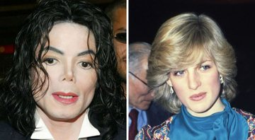 None - Michael Jackson (Foto: Brittain Landmark Media Punch / IPX) e Princesa Diana (Foto: AP Photo)
