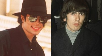 None - Michael Jackson e George Harrison (Foto 1: AP Photo / Laurent Rebours/ Foto 2: AP Images)