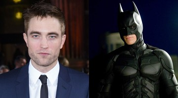 None - Robert Pattinson e Christian Bale como Batman (Montagem: Associated Press/Reprodução Warner)