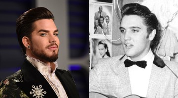 None - Adam Lambert e Elvis Presley (Fotos: Evan Agostini/Invision/AP e AP Photo/File)